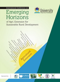 International Conference - Emerging Horizons of Agricultural Extension for Sustainable Rural Development